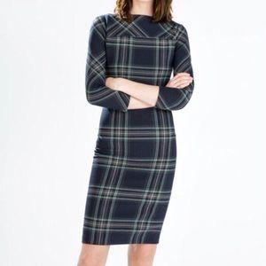 Zara   Plaid Midi Tartan Dress
